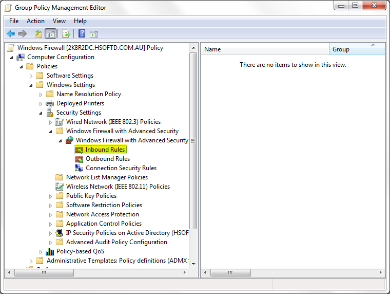 allowing remote desktop access through windows firewall with advanced security using group policy on windows 8