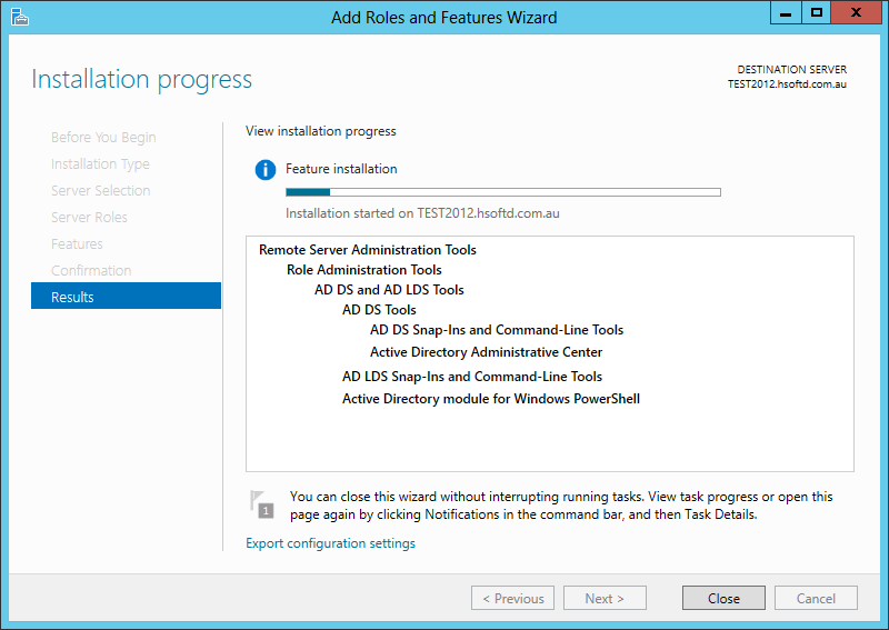 How to install Active Directory Management Tools on Windows Server