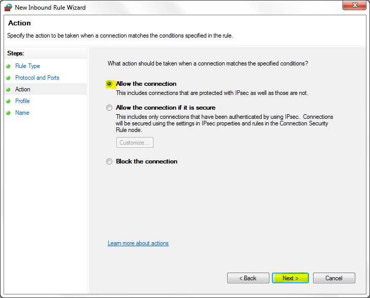How to allow VNC Server through the Windows Firewall with
